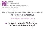 2ème Journée des Fentes Labiopalatines - Syndrome Di-Georges